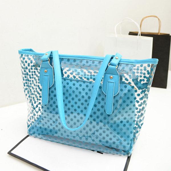 USA-Women-Transparent-Handbag-Shoulder-Bag-Clear-Jelly-Purse-Clutch-PVC-Tote-Bag