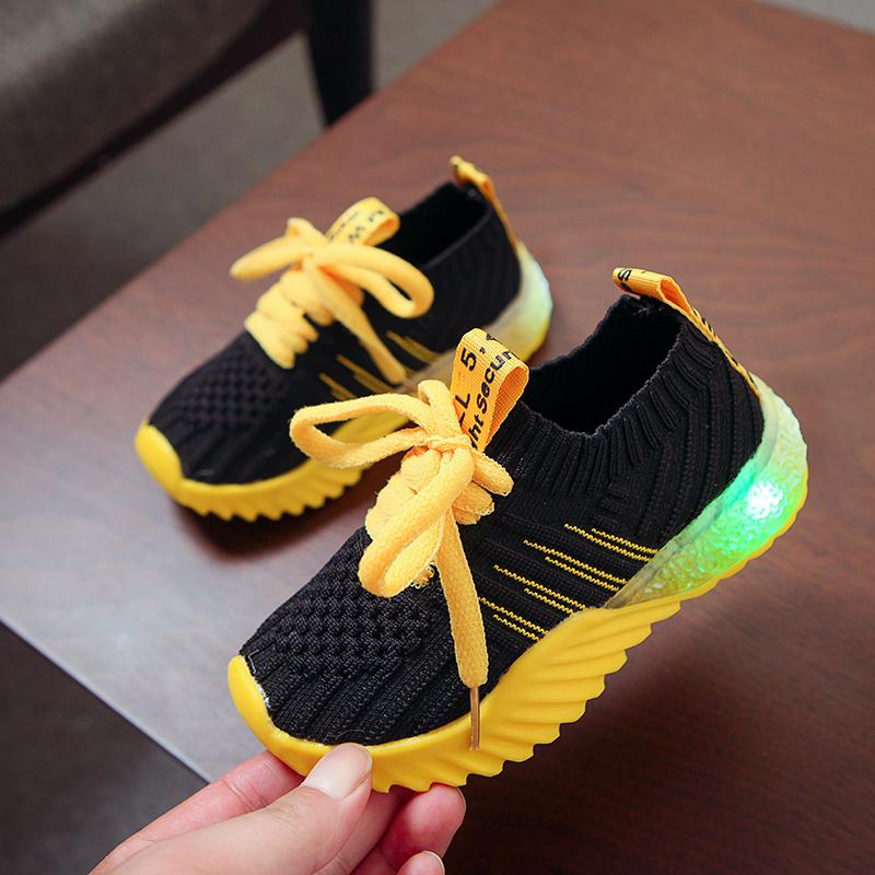 Led Children Baby Boys Girls Light Up Sneakers Luminous ...